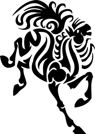 Horse in tribal style - vector illustration Stock Vector - 13932337