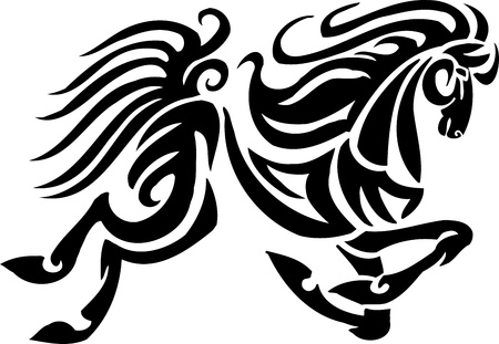 Horse in tribal style - vector illustration Stock Vector - 13932329