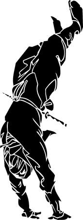 sidekick: Ninja fighter - vector illustration  Vinyl-ready