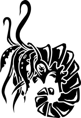 Sea Monster - vector illustration  Vinyl-ready  Vector