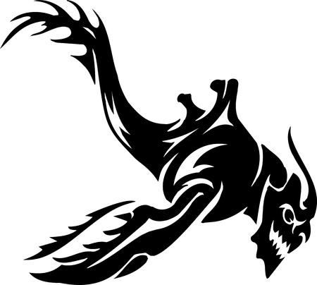 feeler: Sea Monster - vector illustration  Vinyl-ready