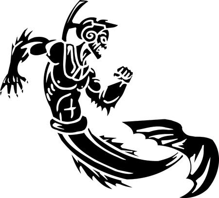Sea Monster - vector illustration  Vinyl-ready