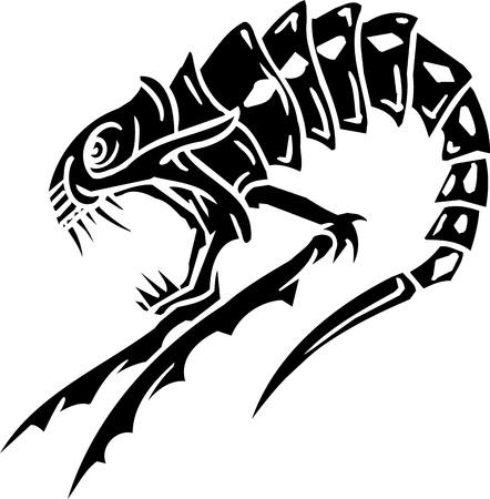 Sea Monster - vector illustration  Vinyl-ready  illustration