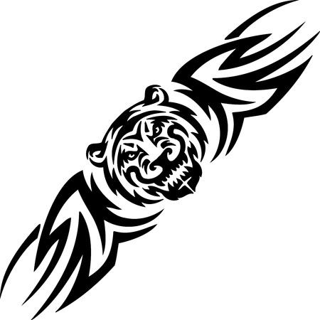Tiger and symmetric tribals  Vector