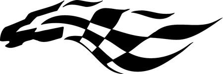 Zielflagge - Symbol Racing Standard-Bild - 14196928
