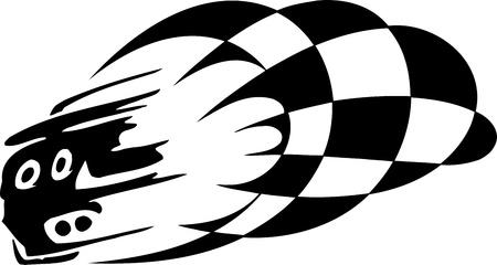 Checkered flag - symbol racing Stock Vector - 14196938