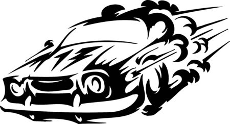 autosport: Race car - illustration