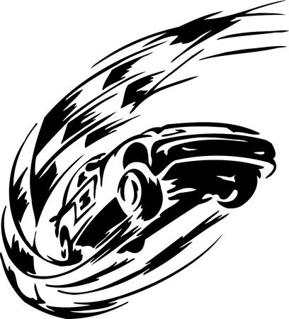 auto illustratie: Race auto - illustratie