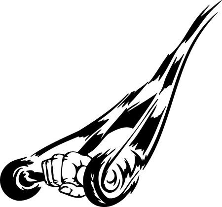 Race sign - illustration