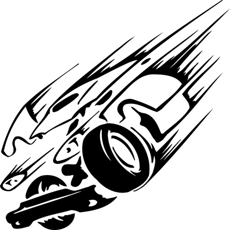 Race car - illustration Vector
