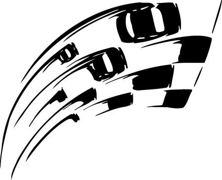 autosport: Race sign - illustration