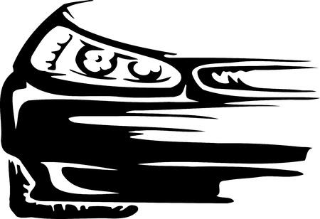 emblem racing: Race car - vector illustration