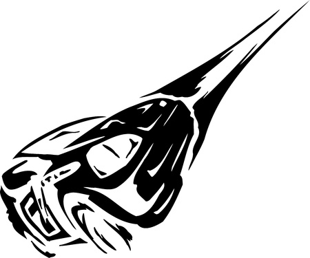 Race car - illustration Stock Illustration - 14197030
