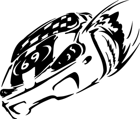 Race car - illustration Stock Vector - 14197016
