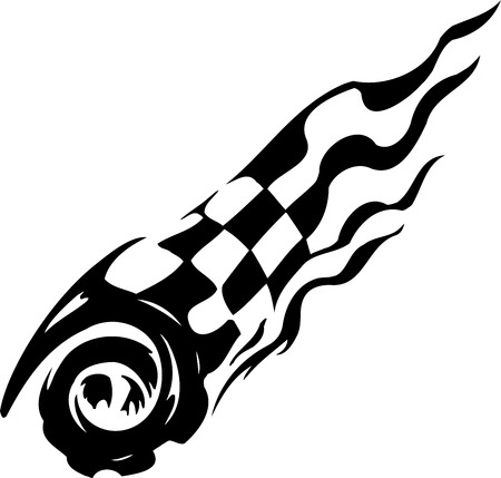 Checkered flag - symbol racing Vector