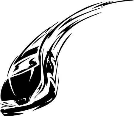 silueta coche: Coche de carreras - ilustraci�n Vectores