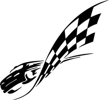 motor racing: Bandera a cuadros - s�mbolo de las carreras Vectores