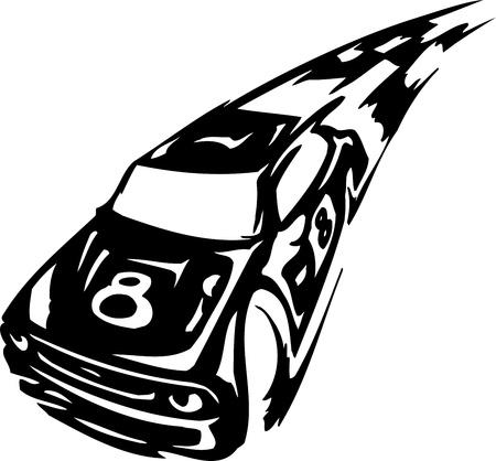 Race car - illustration Stock Vector - 14197007