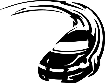car tire: Race car - illustration