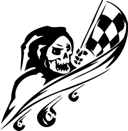 course de voiture: Signe Race - illustration Illustration