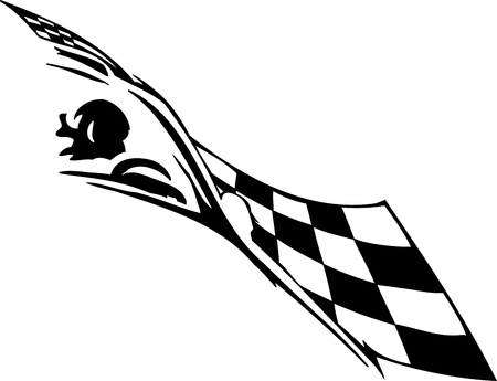 engine flame: Checkered flag - symbol racing