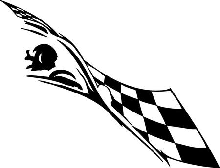 autosport: Checkered flag - symbol racing