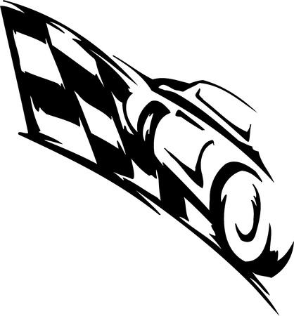 Checkered flag - symbol racing Stock Vector - 14196954