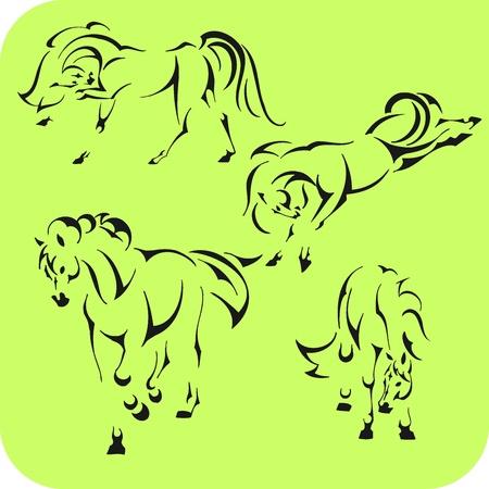 arabian horse: Light Horses -  set  Vinyl-ready