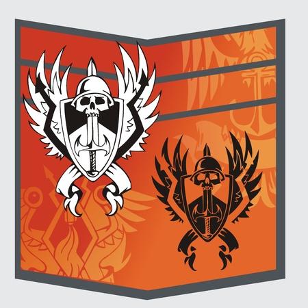 infantry: Military Emblem  Illustration