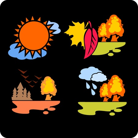 Seasons and weather- vector set  Stock Vector - 16906005