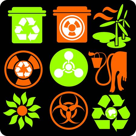 ECO - Green Life - vector set  Stock Vector - 16906001