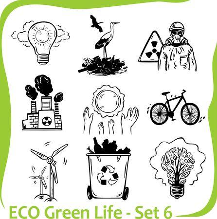 ECO - Green Life Stock Vector - 17011064