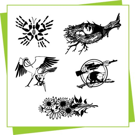 Eco Design Elements and Icons Stock Vector - 17011077