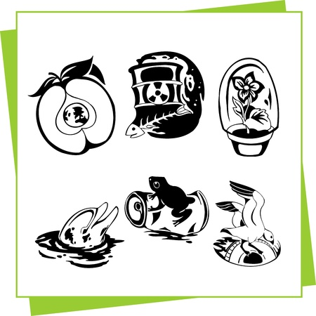 Eco Design Elements and Icons Stock Vector - 17011061