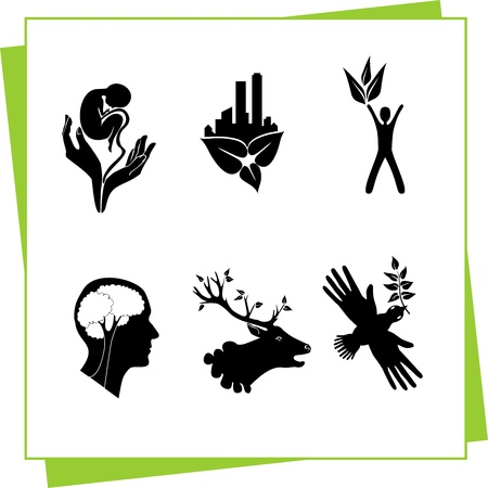 Eco Design Elements and Icons Stock Vector - 17011055