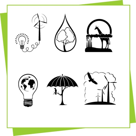 Eco Design Elements and Icons Stock Vector - 17011059