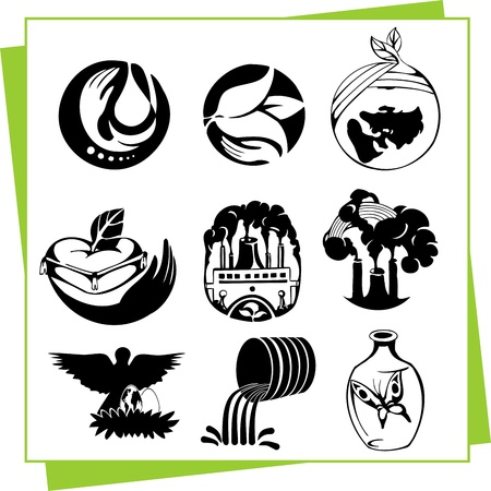 Eco Design Elements and Icons Stock Vector - 17011063