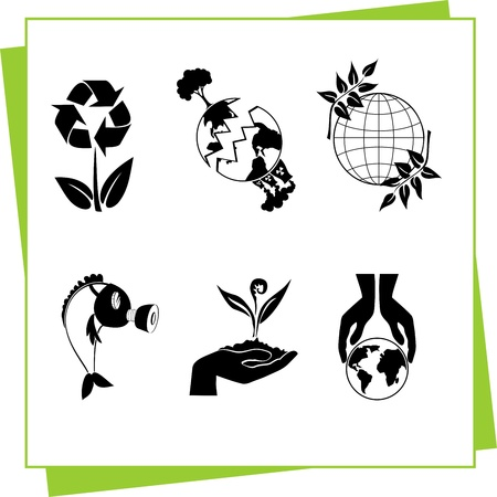 Eco Design Elements and Icons Stock Vector - 17011060