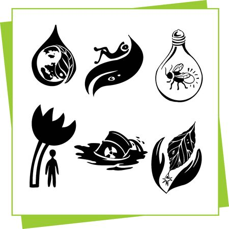 Eco Design Elements and Icons Stock Vector - 17011056