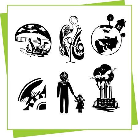 Eco Design Elements and Icons Stock Vector - 17011083