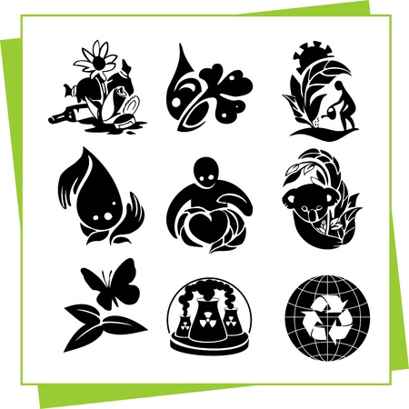 Eco Design Elements and Icons Stock Vector - 17011062