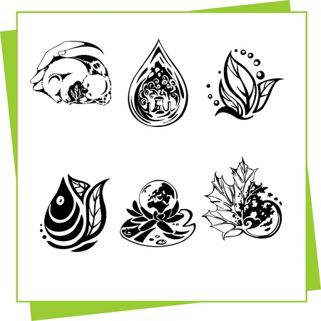 Eco Design Elements and Icons Stock Vector - 17011073