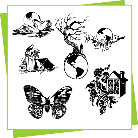 Eco Design Elements and Icons Stock Vector - 17011079