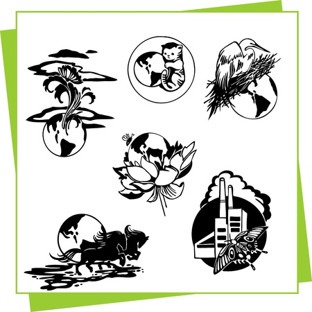 Eco Design Elements and Icons Stock Vector - 17011075