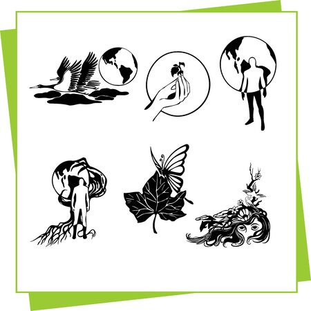Eco Design Elements and Icons Stock Vector - 17011074