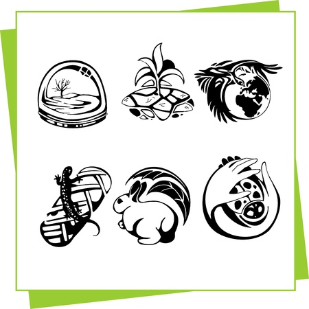 Eco Design Elements and Icons Stock Vector - 17011080