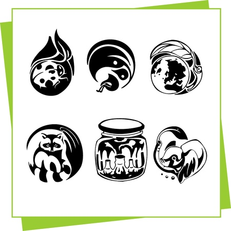Eco Design Elements and Icons Stock Vector - 17011057