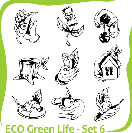 Ecology - vector illustration Stock Vector - 17132037