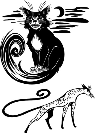 Stylized Cats - elegance and graceful cats Stock Vector - 17240953