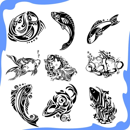 pez abstracto: Abstract Fish